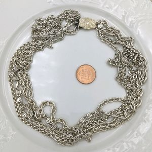 Vintage Silver Made in Germany 6 Strand Necklace